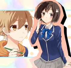 """Uchimaki Subaru"" ""Usami Mizuki"" Otaku, Plastic Memories, Manga Collection, Art Club, Subaru, Manhwa, Cute Girls, Hot Guys, Kawaii"