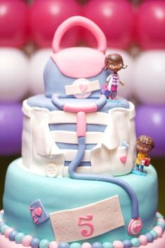 Doc McStuffins Birthday Cake - such an adorable party cake!