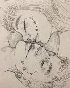 "1,614 Likes, 44 Comments - Luigi Boatto (@luigi_boatto) on Instagram: ""auguri e figli maschi ⚡️ #drawing #sketchbook #pencil #portrait #draw #onyxkawai #dailyart #graphic…"""