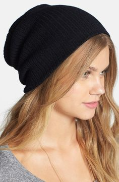 A slouchy ribbed beanie for every outfit.