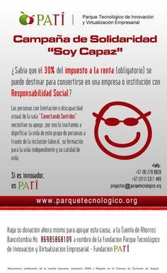 Campaña de solidaridad Soy Capaz, en favor de los invidentes de Ibagué Tolima Colombia Visual Impairment, Colombia