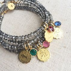 Zodiac birthstone bracelet from Girls Day Out by girlsdayout