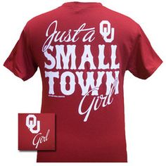 New Oklahoma Boomer Sooners OU Small Town Girl Girlie Bright T Shirt | SimplyCuteTees