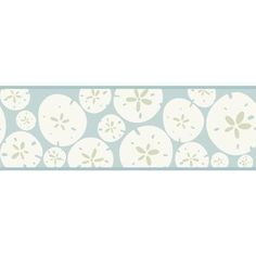 Bistro 750 Sand Dollar Border KB8547B Spa Blue and White
