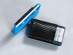 Mini soft carbon fiber wallet men's and women's by ElephantWallet | Etsy