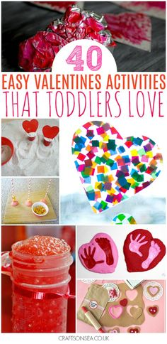 Everything you need in one place with over 40 Valentines Day activities for toddlers including crafts, sensory play, fine motor activities and more. #valentinesday #toddleractivities #valentinesdaycrafts