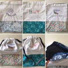 Petits sacs imperméables pour sac de piscine ou de plage.  Rendez-vous sur bleu-blond-rose.alittlemarket.com