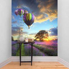 hot air balloon self adhesive wallpaper by the binary box   notonthehighstreet.com