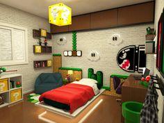 Super Mario Room, Nintendo Room, Video Game Bedroom, Kids Bedroom, Bedroom Decor, Cool Kids Rooms, Game Room Design, Room Themes, Boy Room