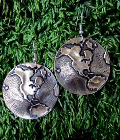 My birthday is coming up you guys.... Globe Earrings Gold Earth Map World by larryjewelry on Etsy, $25.00