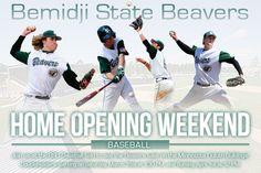 Bemidji State Baseball opening weekend splash page Bemidji State University, Beaver Homes, Baseball Field, Baseball Cards, Opening Weekend, Splash Page, Minnesota, Athlete, Beavers
