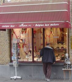 Irma in Bruges, Belgium - sells only lace made in Belgium
