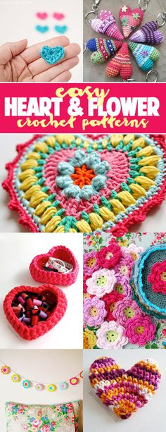 Easy heart and crochet patterns
