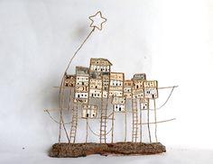 Figurines décoratives, Village sur pilotis est une création orginale de Epistyle sur DaWanda