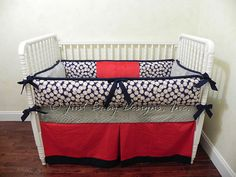 Shabby Chic Boutique 3 Piece Crib Set In Pink Blue