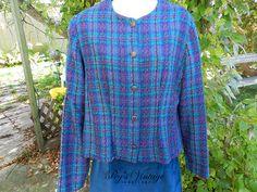 Vintage Women's Wool Plaid Suit by PegsVintageJewellery on Etsy