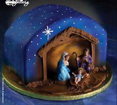Nativity cake from http://3.bp.blogspot.com Check more at http://hrenoten.com
