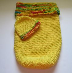 Baby Cocoon, Bunting, Yellow, Newborn Baby Gift, Swaddling,Sleepsack, Papoose, Hat, Newborn,Photo Prop,Crochet, Infant Blanket Sleeper, Sack by RealMcCoyCrochet on Etsy