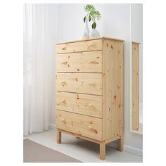 IKEA - TARVA, Komoda, 5 szuflad, , Produkt wykonany z litego drewna - wytrzymałego, ciepłego, naturalnego materiału.