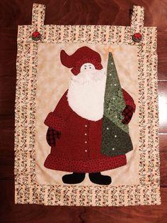 Panô de Natal, em patchwork
