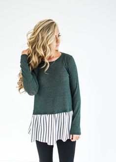 Pine & Stripe Peplum, ootd, style, womens fashion, fashion, sweater, cardigan, fall fashion, winter fashion, blonde hair, makeup, hair
