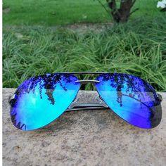 6a6bb9e0b39 LVVKEE hot rayeds Aviator sunglasses men Polarized Men sunglasses women  Rimless sunglasses Brand logo Sunglasses Night vision