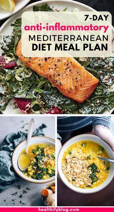 Healthy Menu, Healthy Cooking, Healthy Recipes, Healthy Foods, Easy Mediterranean Diet Recipes, Mediterranean Food, Best Fat Burning Foods, Mind Diet, Dash Diet