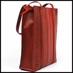 "ELVIS & KRESSE [UK] Fire Hose & Parachute Silk Hand-Made ""The Dutch Tote Bag"" BNIB - FREE INSURED SHIPPING WORLDWIDE - £169.75"