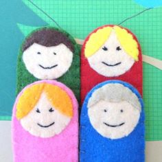 Finger Puppet Family | greenmomguide.com