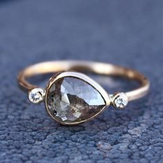 Rose Cut Diamond Ring by SamanthaMcIntosh, $1790.00