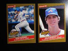 1986 Donruss Highlights Atlanta Braves Team Set of 2 Baseball Cards #AtlantaBraves