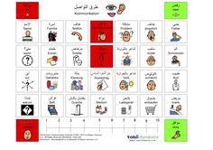 Zweisprachige Kommunikationstafel - Arabisch Deutsch
