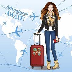 Marta Prus illustration ✈️#martaprus #travel #adventure #travelillustration