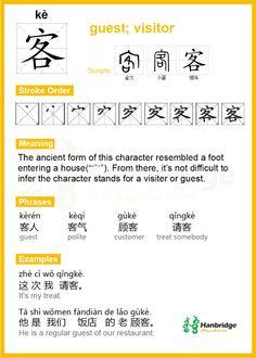 客 Pinyin(kè)