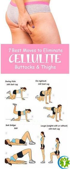 7 Best Exercises To Get Rid of Cellulite On Buttocks And Thighs Fast #FitnessExercises