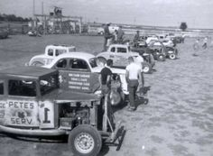 Sandusky Speedway Supermodified Stock Car Racing - 1959