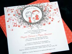 I designed wedding invitations (both paper & web)?