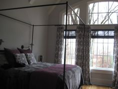 Duralee Fabric designed by John Robshaw - Pat. # DE42509, Color 15 Grey, so serene for this Master Bedroom.  See more brands and our SHOP-AT-HOME services on our web site, www.juliascustomwidows.com. Fabulous Fabrics, Home Office, Fabric Design, Master Bedroom, Hardware, Grey, Shopping, Furniture, Color