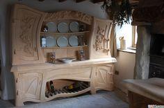 Современная идея дизайнерской резьбы кухонной мебели, фото №07