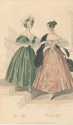 August, 1833 - Court Magazine - Opera Dress, Evening Dress
