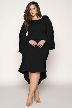 09537da0241c7 Hem Detail Evening Dress Plus Size Wedding Guest Dresses