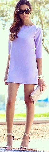 Lavender Shift Dress....so retro !