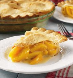 #Honey and #lemon zest make this #pie light and tangy. Frozen #peaches let you enjoy a taste of summer any time of year! #dessert