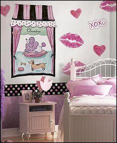 poodle Paris bedroom ideas-french poodle pink poodle bedrooms
