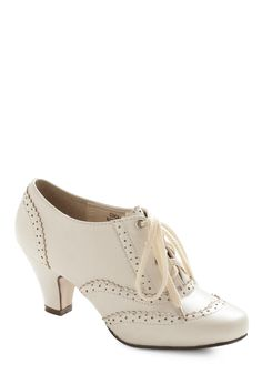 Dance Instead of Walking Heel - White, Solid, Party, Work, Casual, 20s, 30s, Spring, Summer, Nautical