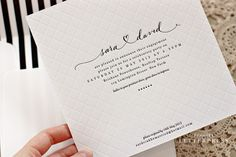 Really love this one. Beautiful blind embossing and mix of classic, elegant and casual. Just the feel I want for our wedding.