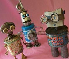 Sculpture by Will Wagenaar: The TIN TYPE ROBOTS