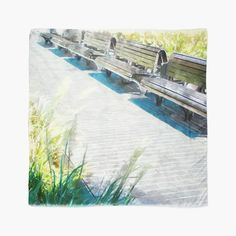 'Urban Collection - Benches in the City.' Scarf by