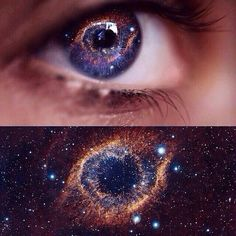 If the wisher looks into their star's eyes long enough they will see galaxies