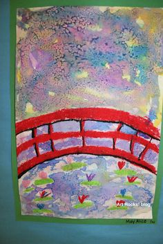 Art Rocks!: Grade 1: Monet Bridge - did in 2015 - varied results, kids had fun!